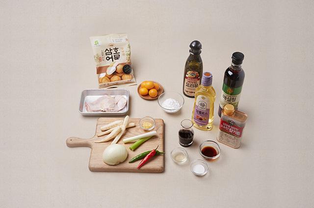 제철채소구이를 곁들인 마늘닭구이 만들기 2단계 사진