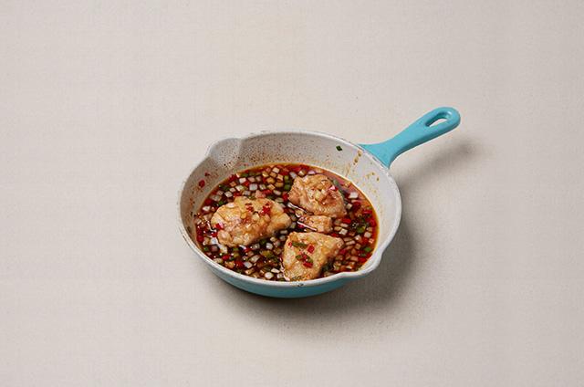 제철채소구이를 곁들인 마늘닭구이 만들기 7단계 사진