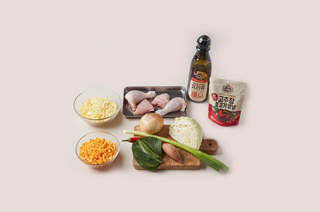 치즈퐁듀 닭갈비 만들기 2단계 사진