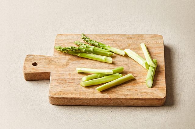 새우 아스파라거스 커리덮밥 만들기 4단계 사진