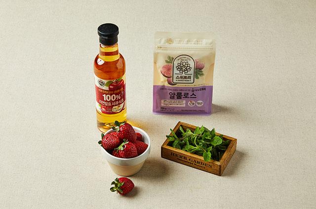 딸기 애플민트청 만들기 2단계 사진