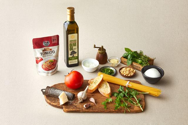 구운 토마토 모짜렐라 스파게티 만들기 2단계 사진