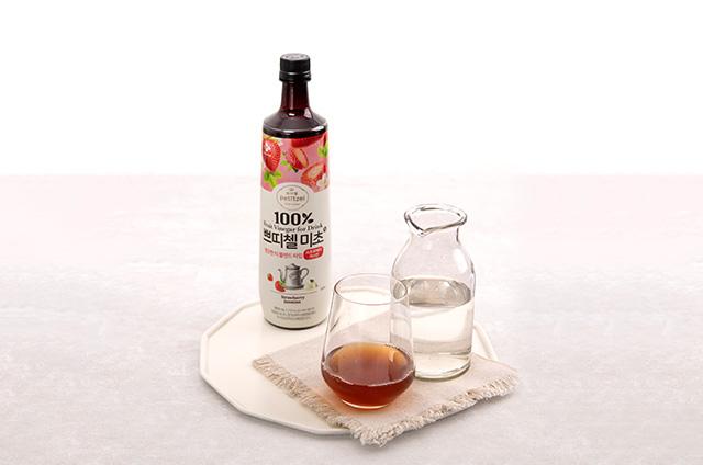 딸기 홈카페 음료 만들기 2단계 사진