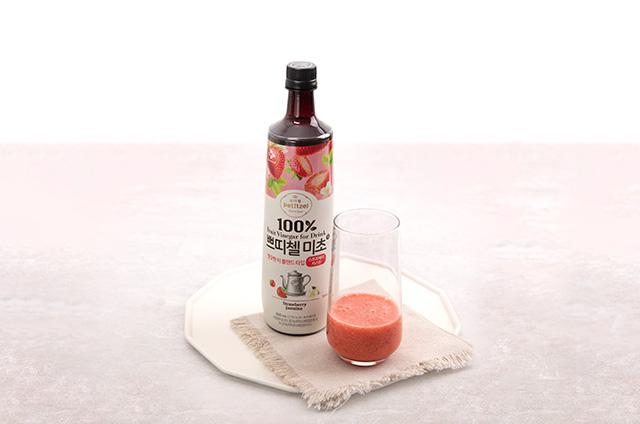 딸기 홈카페 음료 만들기 5단계 사진