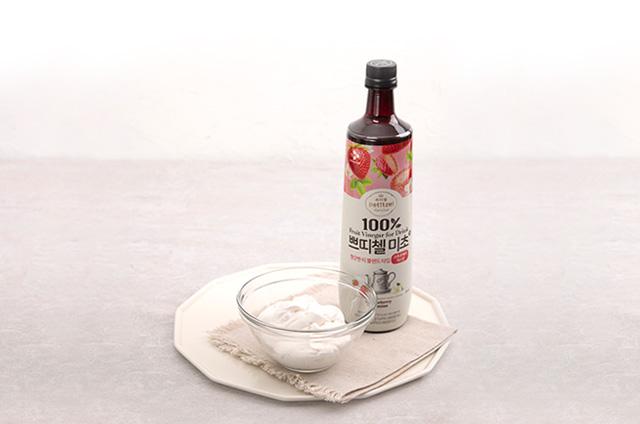 딸기 홈카페 음료 만들기 6단계 사진