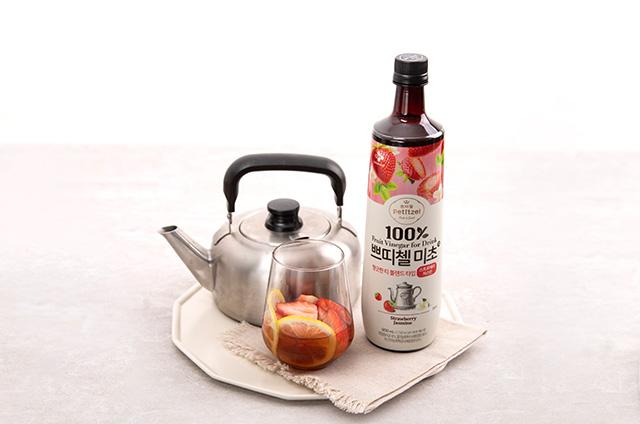 딸기 홈카페 음료 만들기 9단계 사진