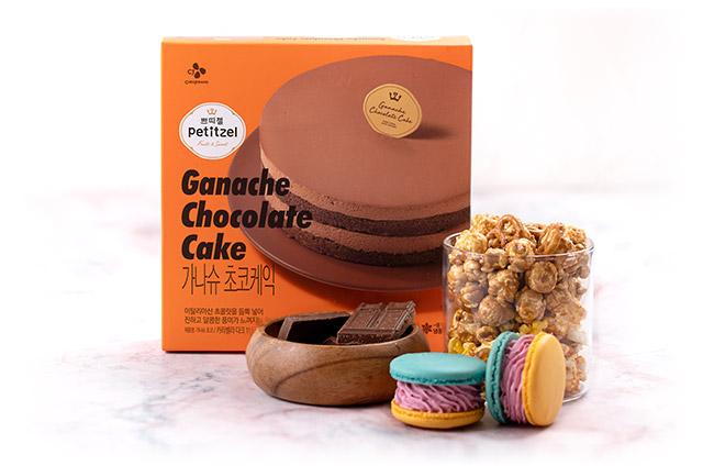 팝콘 마카롱 가나슈 초코케익 만들기 2단계 사진