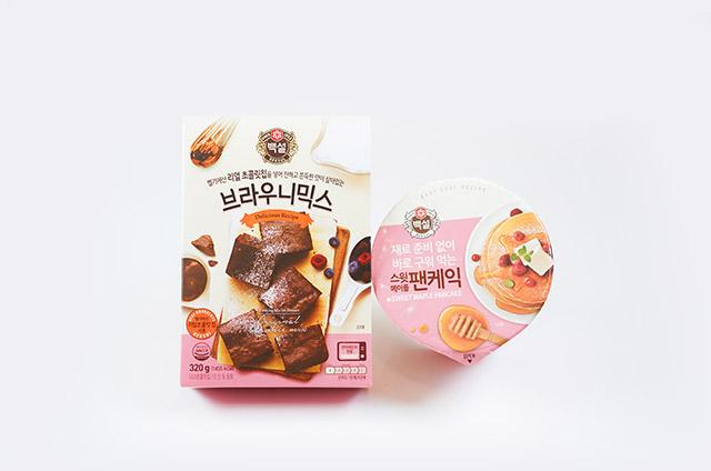 브라우니&스윗메이플 팬케익 만들기 2단계 사진