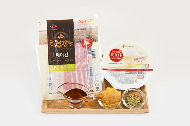 베이컨말이 주먹밥 만들기 2단계 사진