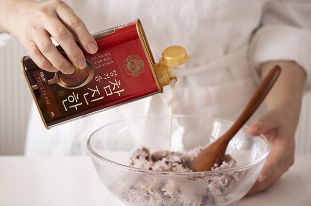 채소고기 비엔나 스타일 보슬보슬 김밥 만들기 6단계 사진
