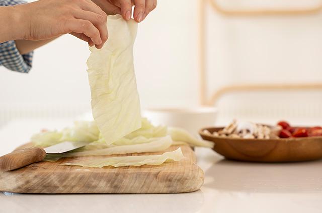 채소&고기 가득 비엔나 Style 캐비지롤 만들기 5단계 사진