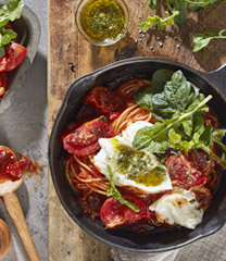 구운 토마토 모짜렐라 스파게티