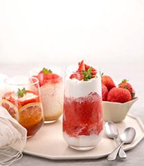 딸기 홈카페 음료
