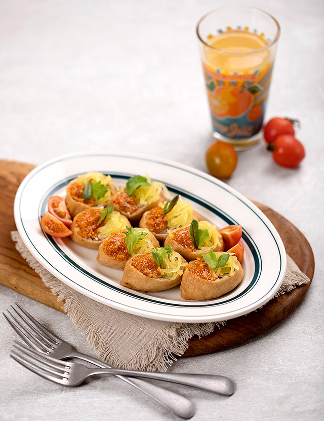 김치 날치알 유부초밥