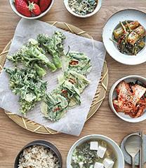 봄 제철 요리 튀김 한상